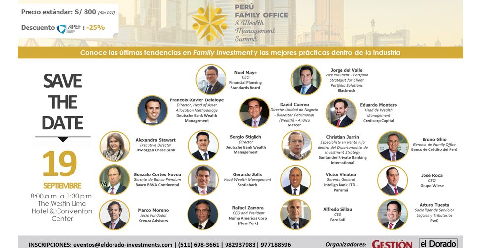 PERÚ FAMILY OFFICE & WEALTH  MANAGEMENT SUMMIT
