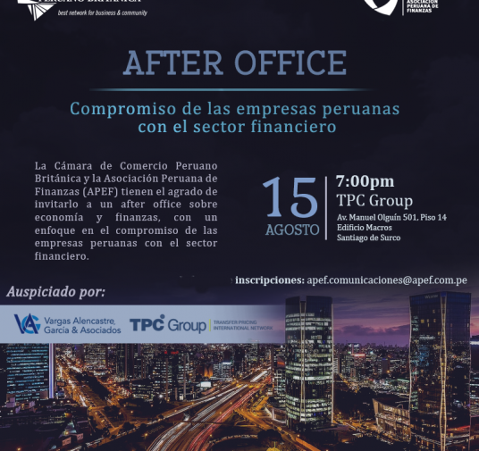 Compromiso de las empresas peruanas con el sector financiero - AFTER OFFICE
